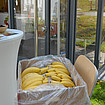 Fair trade Bananen an der LichtKirche